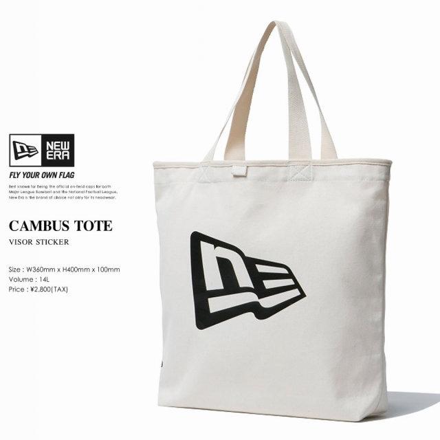 NEW ERA ニューエラ キャンバストートバッグ CANVAS TOTE FLAG LOGO アイボリー×ブラック (11556671)