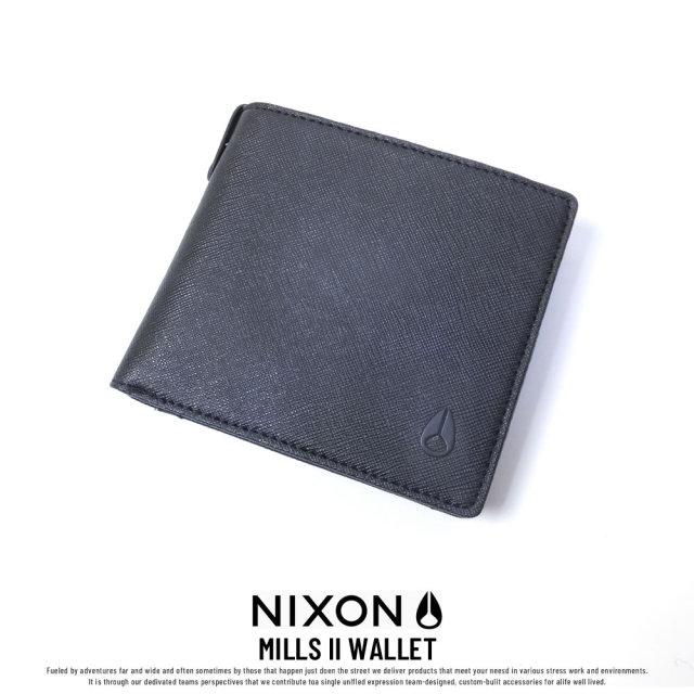 NIXON ニクソン ウォレット メンズ MILLS II WALLET BLACK (NC2727000-00)