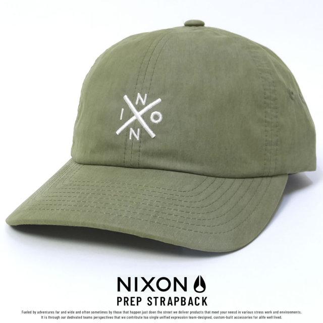 NIXON ニクソン カーブバイザーキャップ PREP STRAPBACK AVOCADO (C27841934)