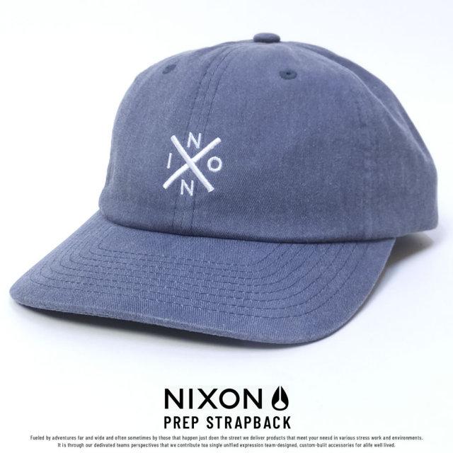 NIXON ニクソン カーブバイザーキャップ PREP STRAPBACK NAVY (C2784307)