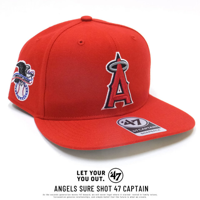 フォーティーセブンブランド 47BRAND キャップ 帽子 メンズ ロサンゼルス・エンゼルス ANGELS SURE SHOT 47 CAPTAIN レッド (B-SRS04WBP-RD)