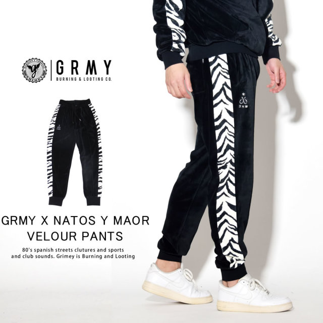 GRIMEY グライミー ベロアパンツ GRMY X NATOS Y MAOR VELOUR PANTS GRTS162