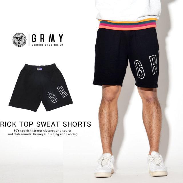 GRIMEY グライミー ハーフスウェットパンツ BRICK TOP SWEAT SHORTS GSS129