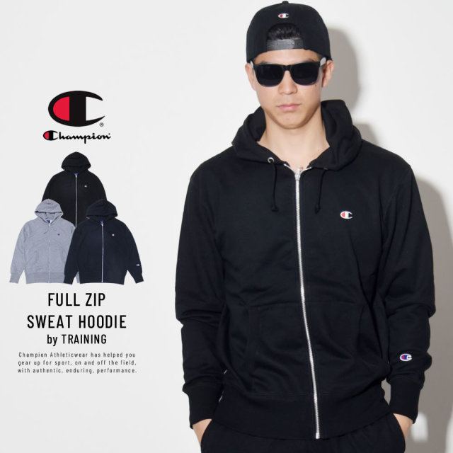 CHAMPION チャンピオン ジップパーカー TRAINING FULL ZIP SWEAT PARKA C3-LS150