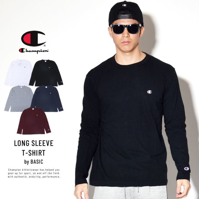 Champion (チャンピオン) 長袖Tシャツ BASIC LONG SLEEVE T-SHIRT (C3-P401)