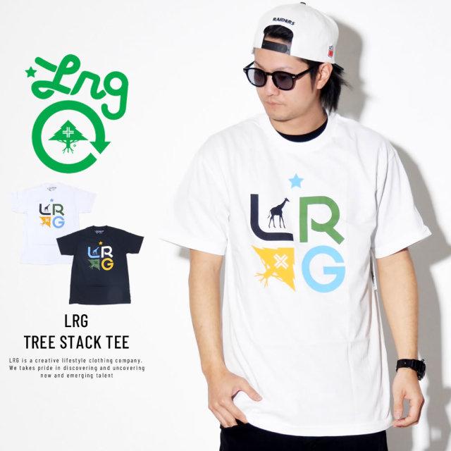 LRG エルアールジー 半袖Tシャツ LRG TREE STACK TEE B191014