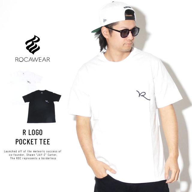 ROCA WEAR ロカウェア 半袖Tシャツ 胸ポケット Rロゴ R LOGO POCKET TEE RW003T01S