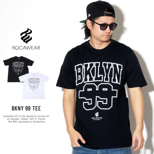 ROCA WEAR ロカウェア 半袖Tシャツ BKLYN 99 ロゴ バックプリント BKLYN NUMBERING TEE RW183T08S