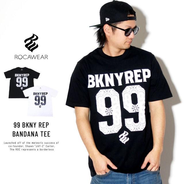 ROCA WEAR ロカウェア 半袖Tシャツ ペイズリー 99 BKNY REP BANDANA TEE RW173T22S