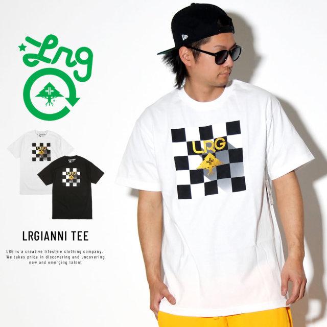 LRG エルアールジー 半袖Tシャツ フラッグチェック LRGIANNI TEE C191028