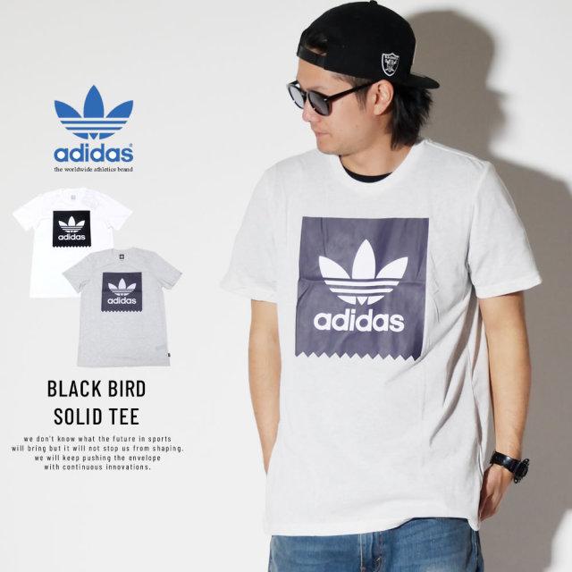 ADIDAS アディダス 半袖Tシャツ トレフォイル BLACK BIRD SOLID TEE DU8314