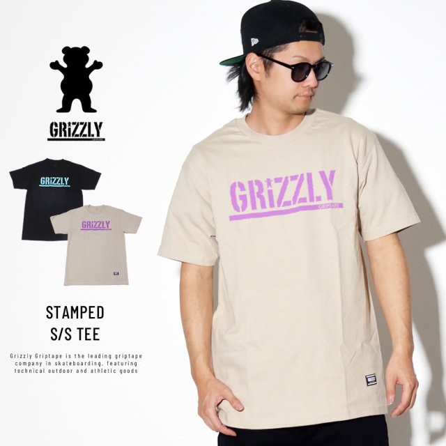 Grizzly Griptape (グリズリーグリップテープ) 半袖Tシャツ STAMPED S/S TEE (19105)