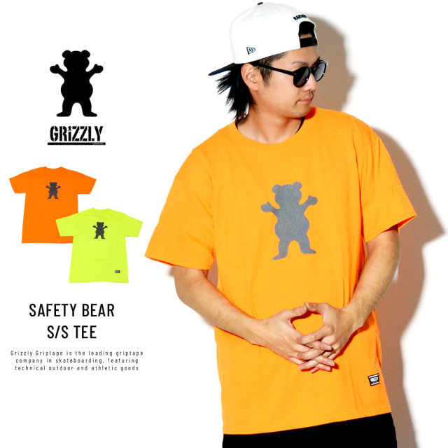 GRIZZLY グリズリー 半袖Tシャツ SAFETY BEAR 19124