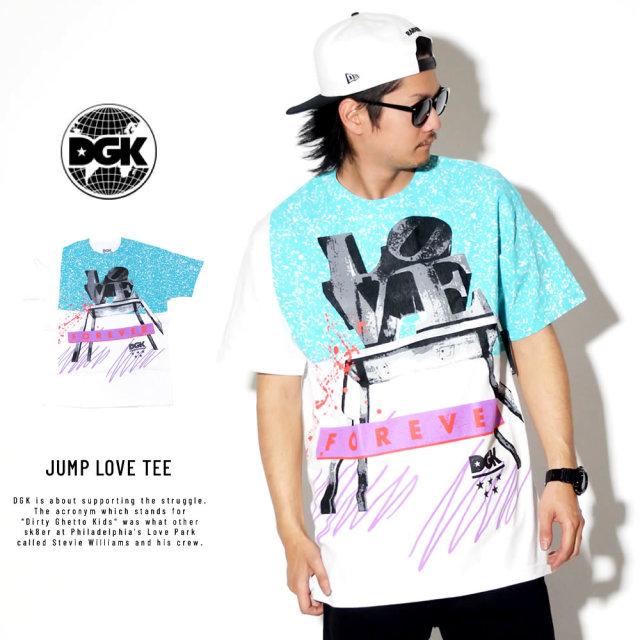 DGK ディージーケー 半袖Tシャツ JUMP LOVE TEE PTB-1001