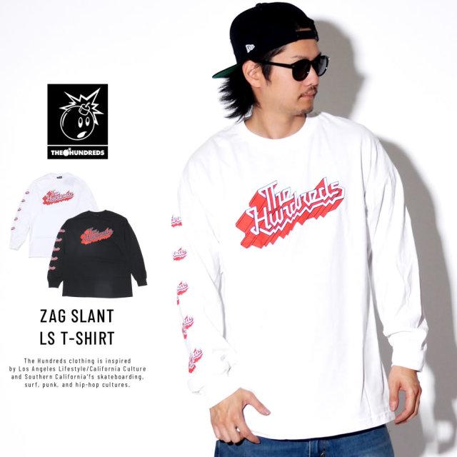 THE HUNDREDS ザ・ハンドレッズ 長袖Tシャツ ZAG SLANT LS T-SHIRT T19P201038