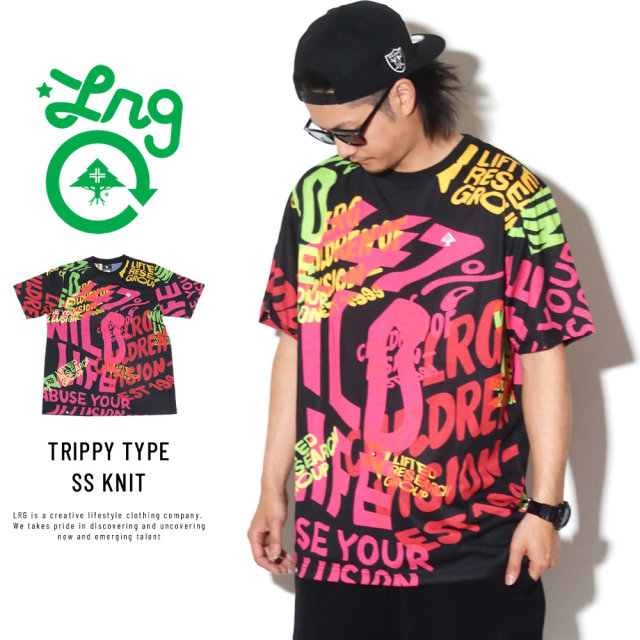 LRG エルアールジー 半袖Tシャツ TRIPPY TYPE SS KNIT D191018