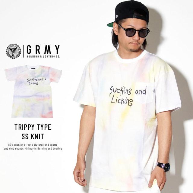 GRIMEY グライミー 半袖Tシャツ LAUGHING BOY TIE DYE TEE GA524