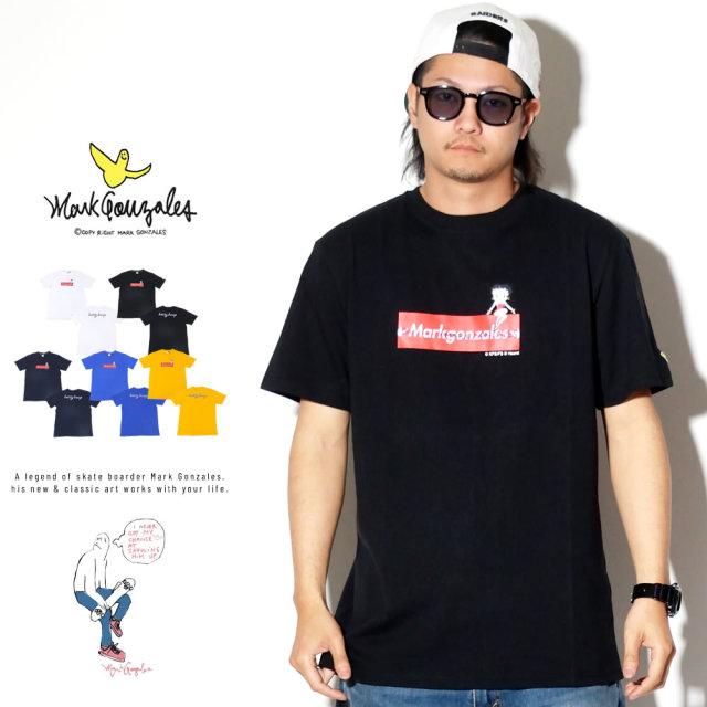 MARK GONZALES マークゴンザレス 半袖Tシャツ BETTY BOOP コラボ 2G7-4307