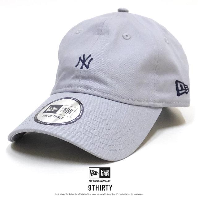 ニューエラ NEW ERA キャップ メンズ 帽子 9THIRTY ノンウォッシュ コットンツイル ニューヨーク・ヤンキース グレー×ミッドナイトネイビー (11899254)