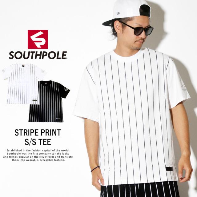 SOUTH POLE サウスポール 半袖Tシャツ STRIPE PRINT SS TEE 11922052