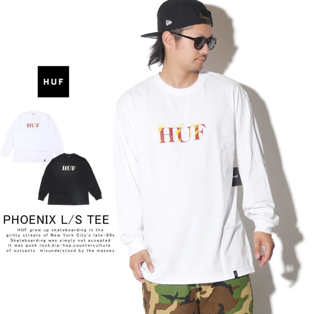 HUF ハフ 長袖Tシャツ PHOENIX L/S TEE TS00783