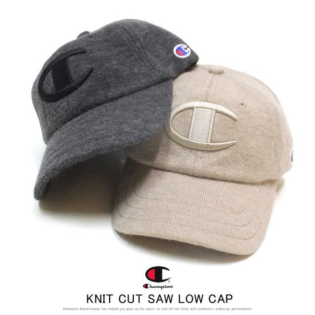 CHAMPION チャンピオン カーブバイザーキャップ KNIT CUT SAW LOW CAP 381-4029