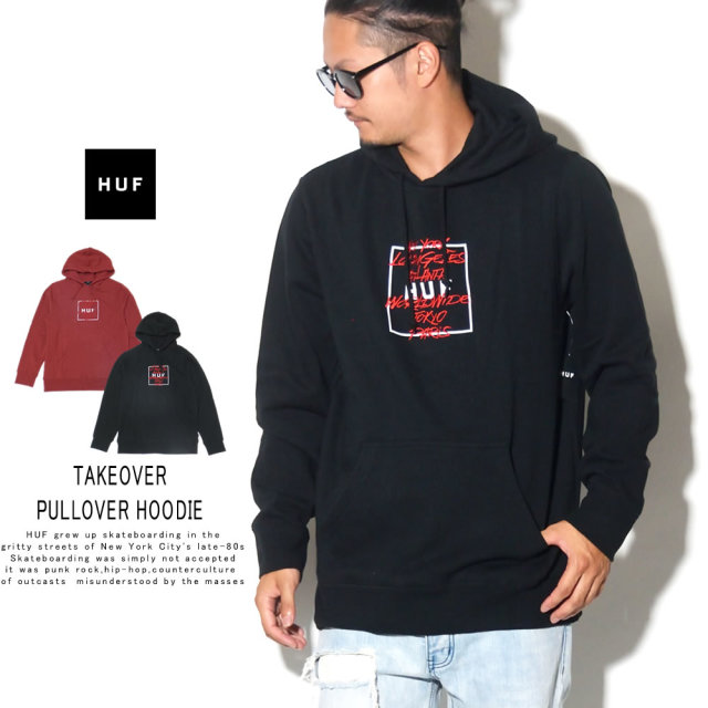 HUF ハフ プルオーバーパーカー TAKEOVER PULLOVER HOODIE PF00157