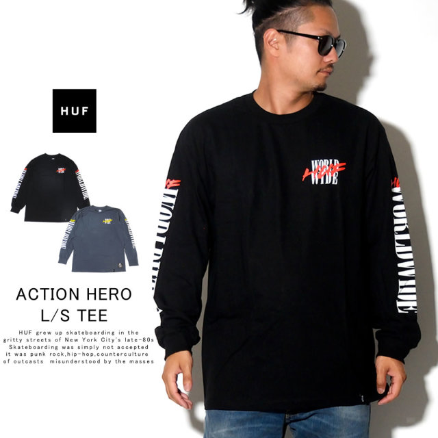 HUF ハフ 長袖Tシャツ ACTION HERO L/S TEE TS00809