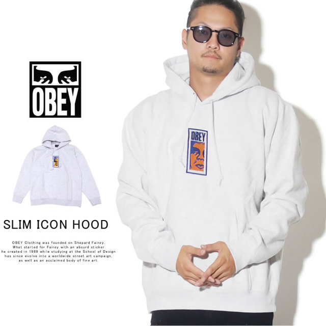OBEY オベイ プルオーバーパーカー OBEY SLIM ICON HOOD 112470069