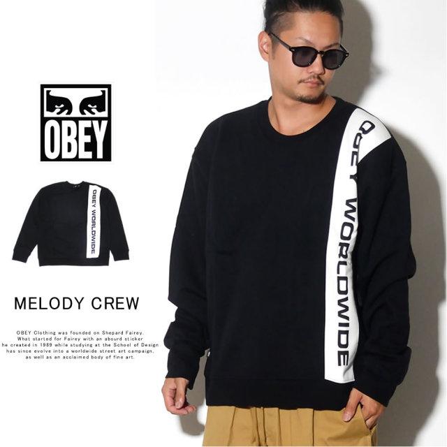 OBEY オベイ トレーナー MELODY CREW 112480051