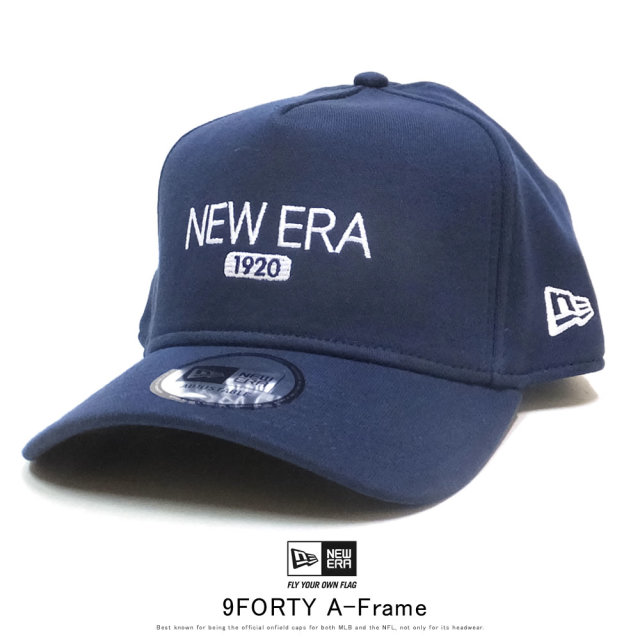 NEW ERA ニューエラ カーブバイザーキャップ 9FORTY A-Frame スウェット ニューエラ 1920 ネイビー × スノーホワイト ミッドナイトネイビー 12108928