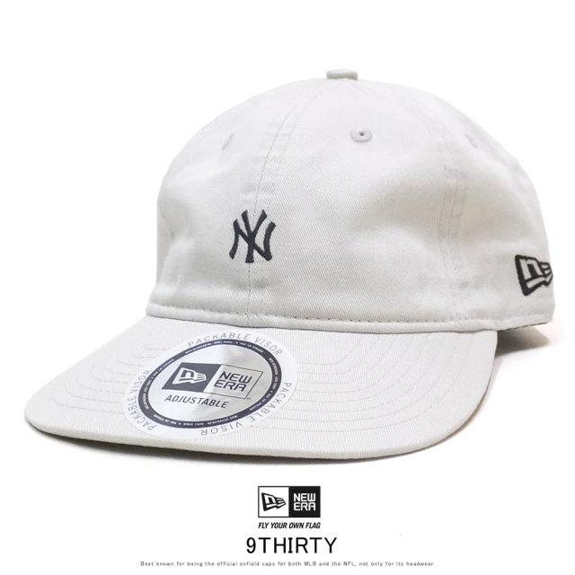 NEW ERA ニューエラ カーブバイザーキャップ 9THIRTY クロスストラップ パッカブル ニューヨーク・ヤンキース ストーン × スノーホワイト 12108995