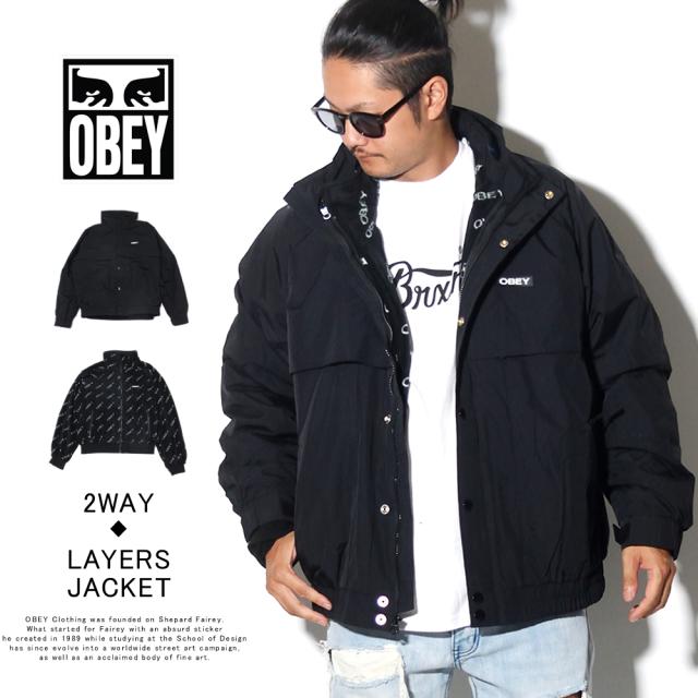 OBEY オベイ ジャケット LAYERS JACKET 121800381