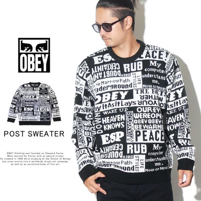 OBEY オベイ セーター POST SWEATER 151000042