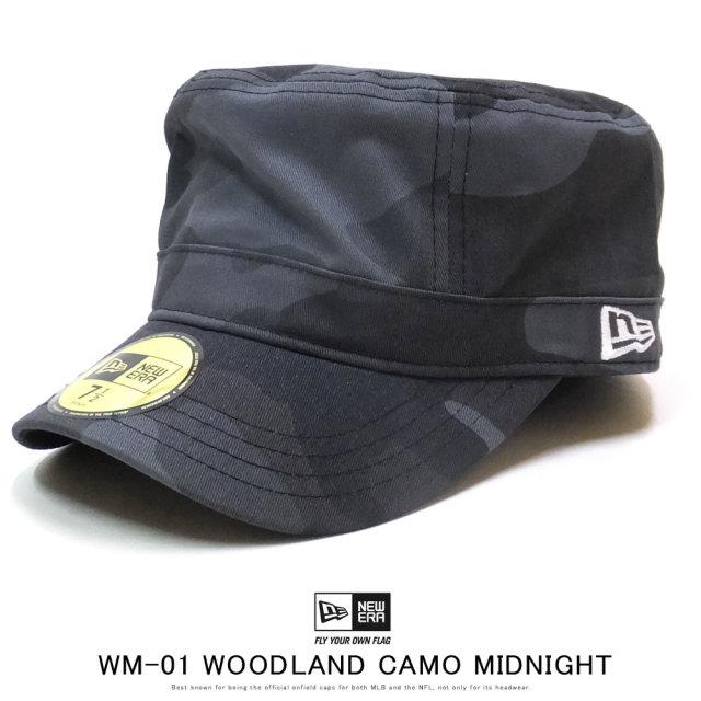 NEW ERA ニューエラ ワークキャップ ミリタリーキャップ WM-01 ウッドランドカモ ミッドナイト ホワイトフラッグ 12119302