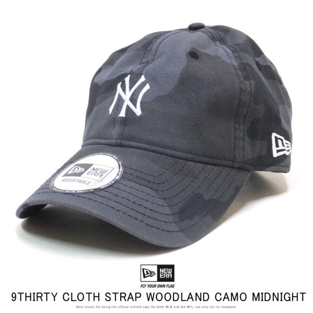 NEW ERA ニューエラ カーブバイザーキャップ 9THIRTY ニューヨーク・ヤンキース ウッドランドカモ ミッドナイト × ホワイト 12119361