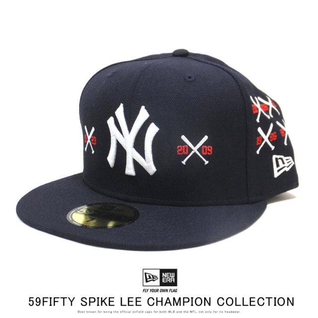 NEW ERA ニューエラ フラットバイザーキャップ 59FIFTY New Era x A Spike Lee Joint Collection スパイク・リー ジョイント コレクション チャンピオンシップ クロスバット 12158179