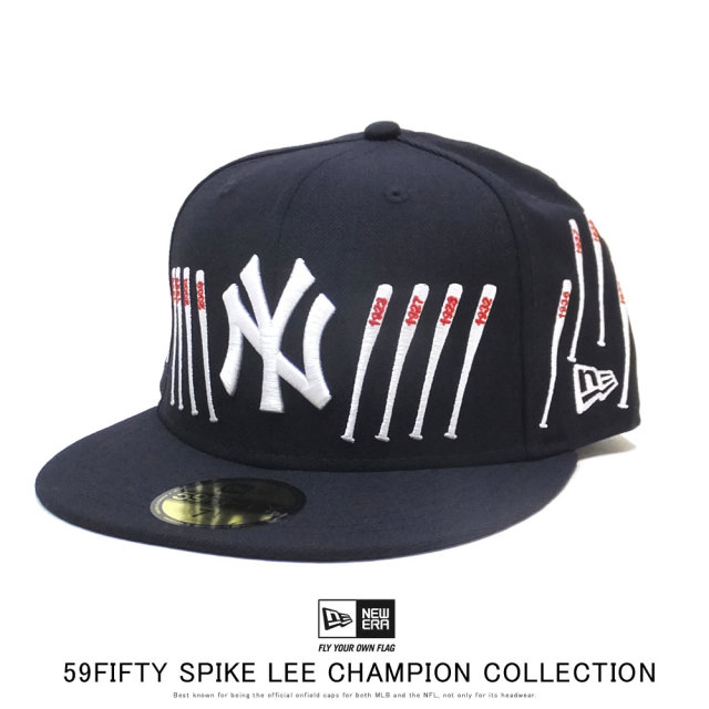 NEW ERA ニューエラ フラットバイザーキャップ 59FIFTY New Era x A Spike Lee Joint Collection スパイク・リー ジョイント コレクション チャンピオンシップ バット 12158181