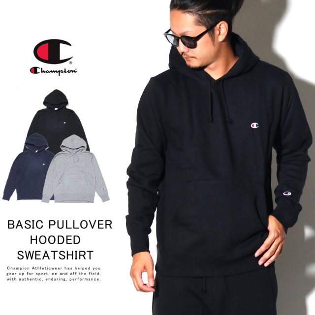 CHAMPION チャンピオン プルオーバーパーカー BASIC PULLOVER HOODED SWEATSHIRT C3-Q105