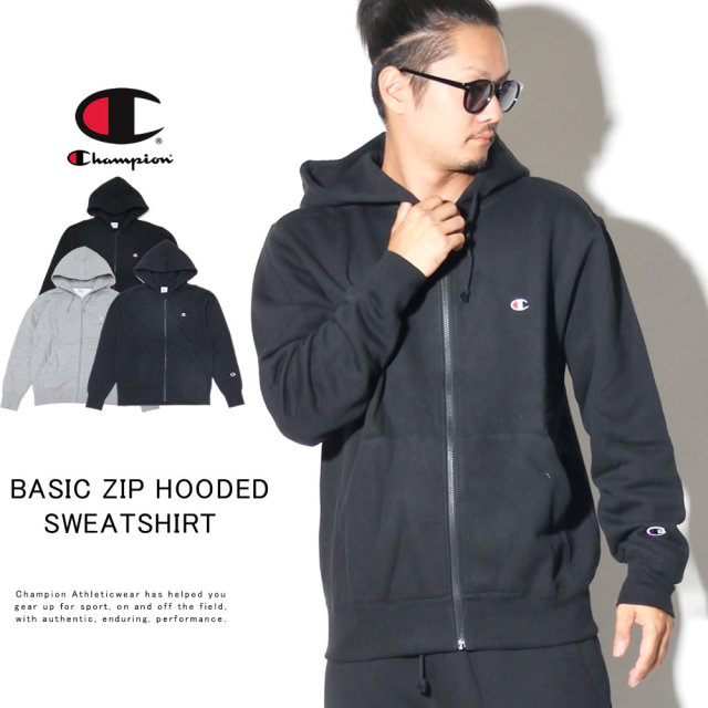 CHAMPION チャンピオン ジップパーカー BASIC ZIP HOODED SWEATSHIRT C3-Q106