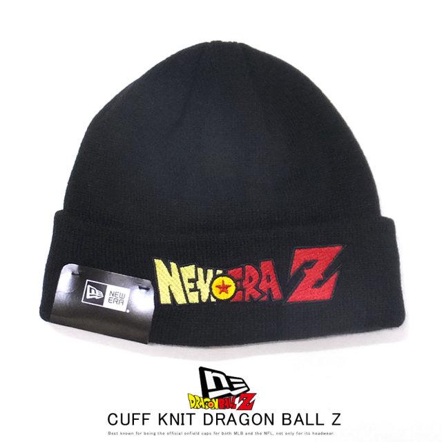 NEW ERA ニューエラ ニットキャップ カフニット ミッド DRAGON BALL Z ドラゴンボールZ NEWERAZ ブラック 12110747