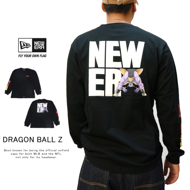 NEW ERA ニューエラ 長袖Tシャツ 長袖 コットン Tシャツ ドラゴンボールZ ギニュー スクエアニューエラ ブラック 12110855