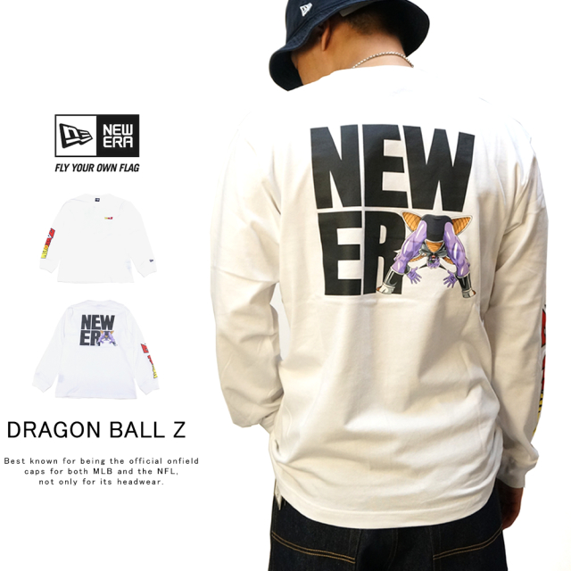 NEW ERA ニューエラ 長袖Tシャツ 長袖 コットン Tシャツ ドラゴンボールZ ギニュー スクエアニューエラ ホワイト 12110856