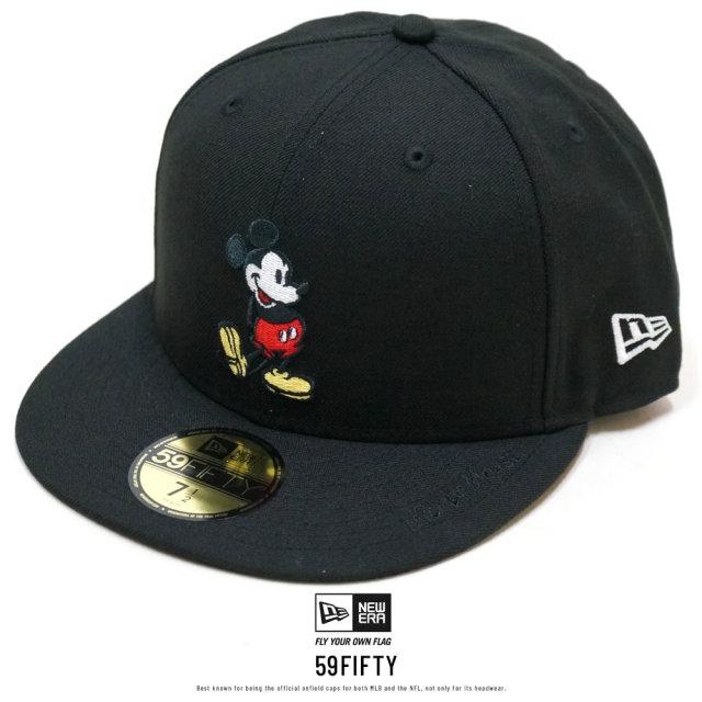 NEW ERA ニューエラ フラットバイザーキャップ 59FIFTY ディズニー ミッキーマウス ブラック 12109132