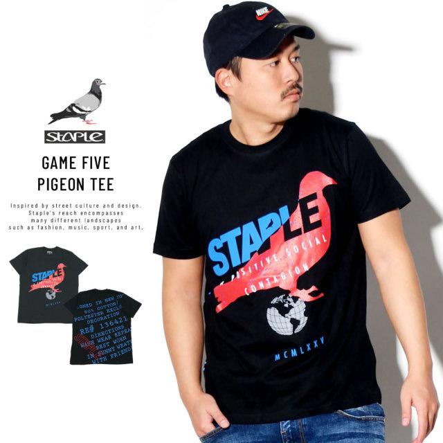STAPLE ステイプル 半袖Tシャツ GAME FIVE PIGEON TEE 1910C5914