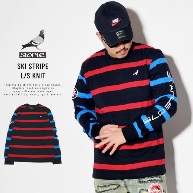 STAPLE ステイプル 長袖Tシャツ SKI STRIPE L/S KNIT 1911C5707