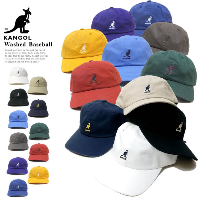 KANGOL カンゴール カーブバイザーキャップ WASHED BASEBALL 100169220