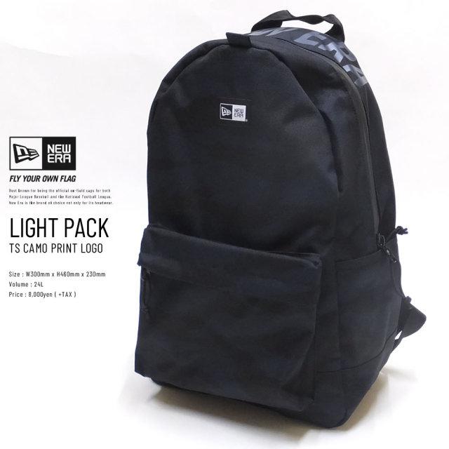 NEW ERA (ニューエラ) バックパック LIGHT PACK 27L プリントロゴ タイガーストライプカモ×ネイビー (11901498)