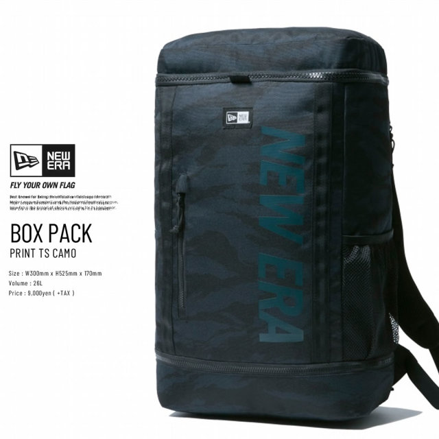New Era (ニューエラ) バックパック BOX PACK 32L プリントロゴ タイガーストライプカモネイビー×ネイビー (11901530)
