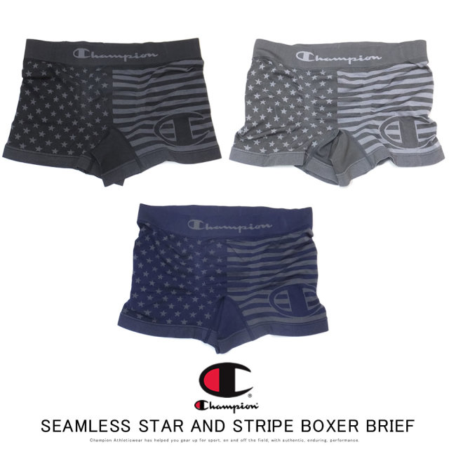 CHAMPION チャンピオン ボクサーブリーフ SEAMLESS STAR AND STRIPE BOXER BRIEF CM6-Q206
